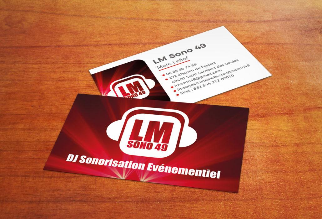 Cartes de visite de LM Sono 49