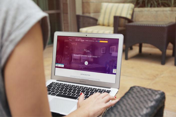 Site web de l'Hôtel Saint Pierre**** à Saumur